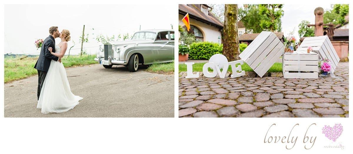 Freie Trauung im Kurpark Bad Krozingen, Schloss Riesigen mit liebe Design von rockwedding Hochzeitslocation und Hochzeitsauto organisiert vonrock