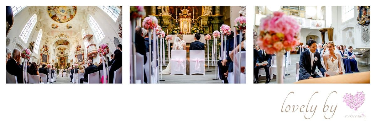 Hochzeit auf Insel Mainau am Bodensee in der Marienchurch organisiert von wedding planer and designer Rockwedding - fine art weddings