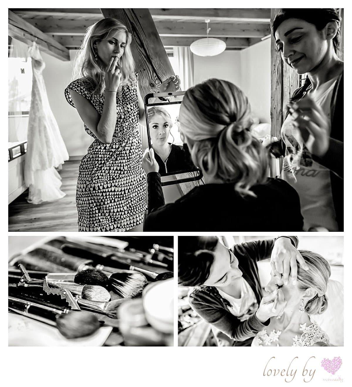 Hochzeit auf Insel Mainau am Bodensee Hochzeit Make-up
