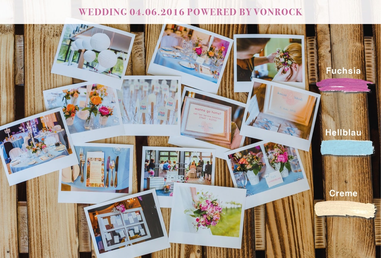 Rockwedding Hochzeit Moodboard- Wedding design