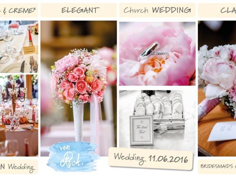 Hochzeit feiern auf der Insel Mainau am Bodensee Moodboard design