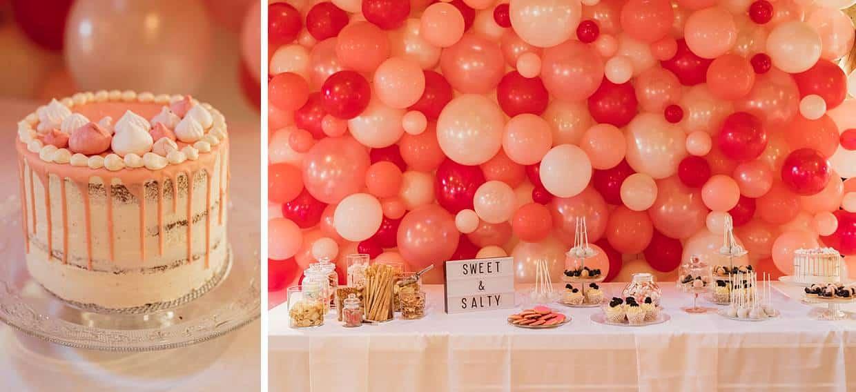 Hochzeitssnacks für die Hochzeitsgäste.