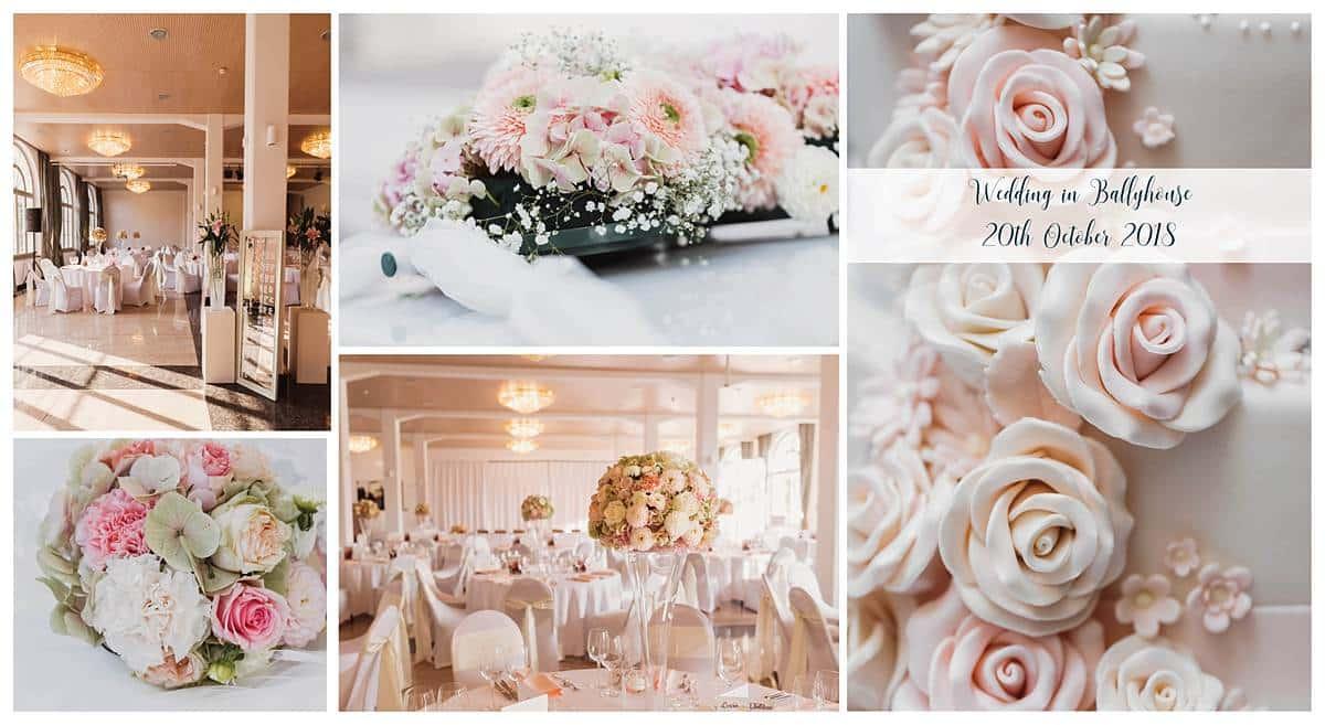 Hochzeit im Ballyhouse in Schönenwerd. Die Braut wünschte sich eine Hochzeitsdekoration aus Blumen in Pastellfarben