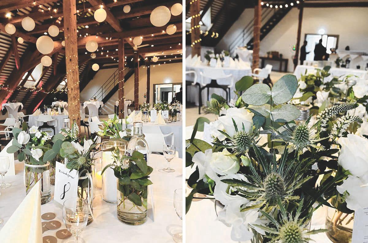 Ein Raum geschmückt mit Hochzeitsdeko in KIrchzarten.