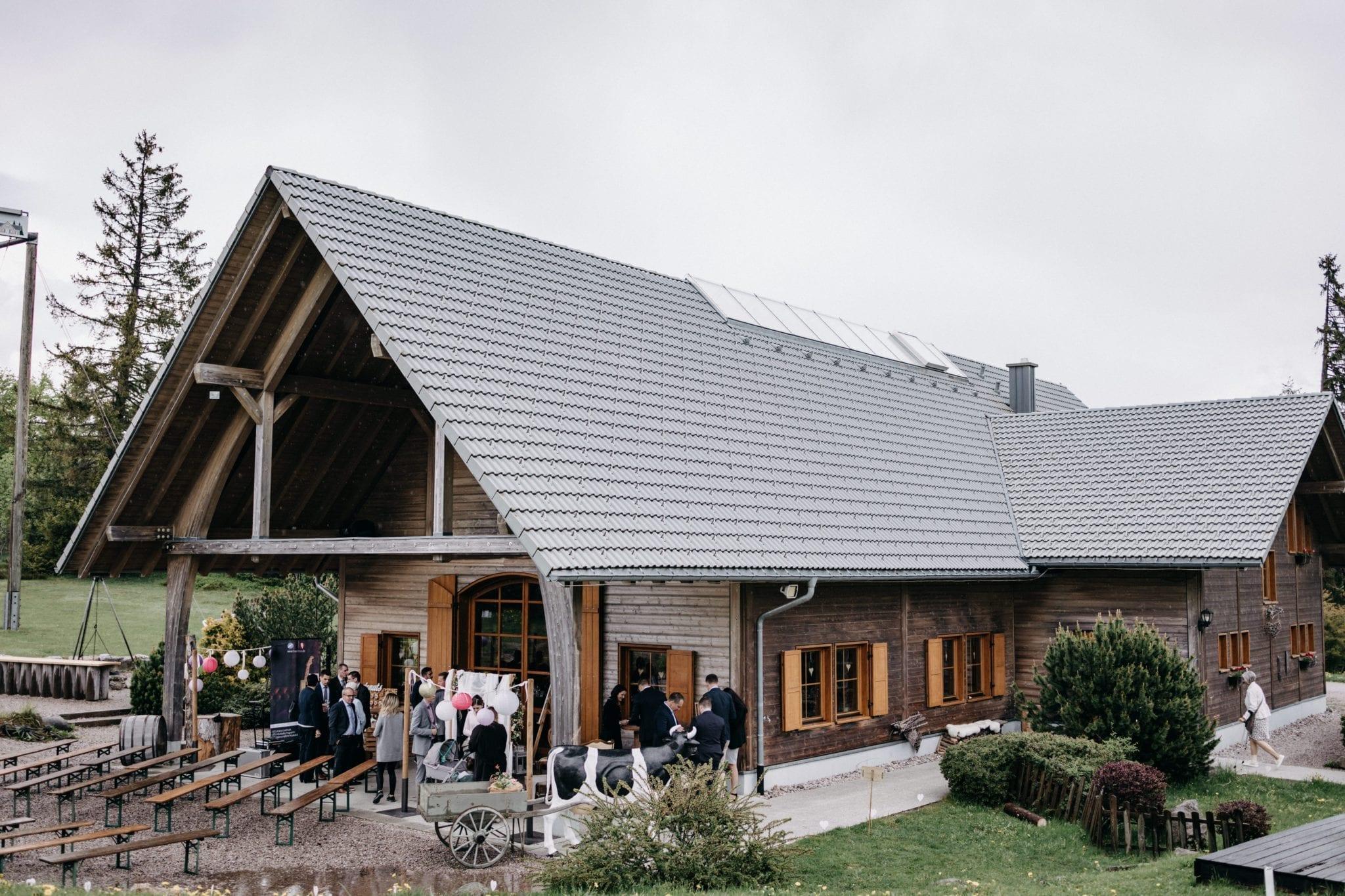 Ein Haus wo die Hochzeit stattfindet, in Freiburg.
