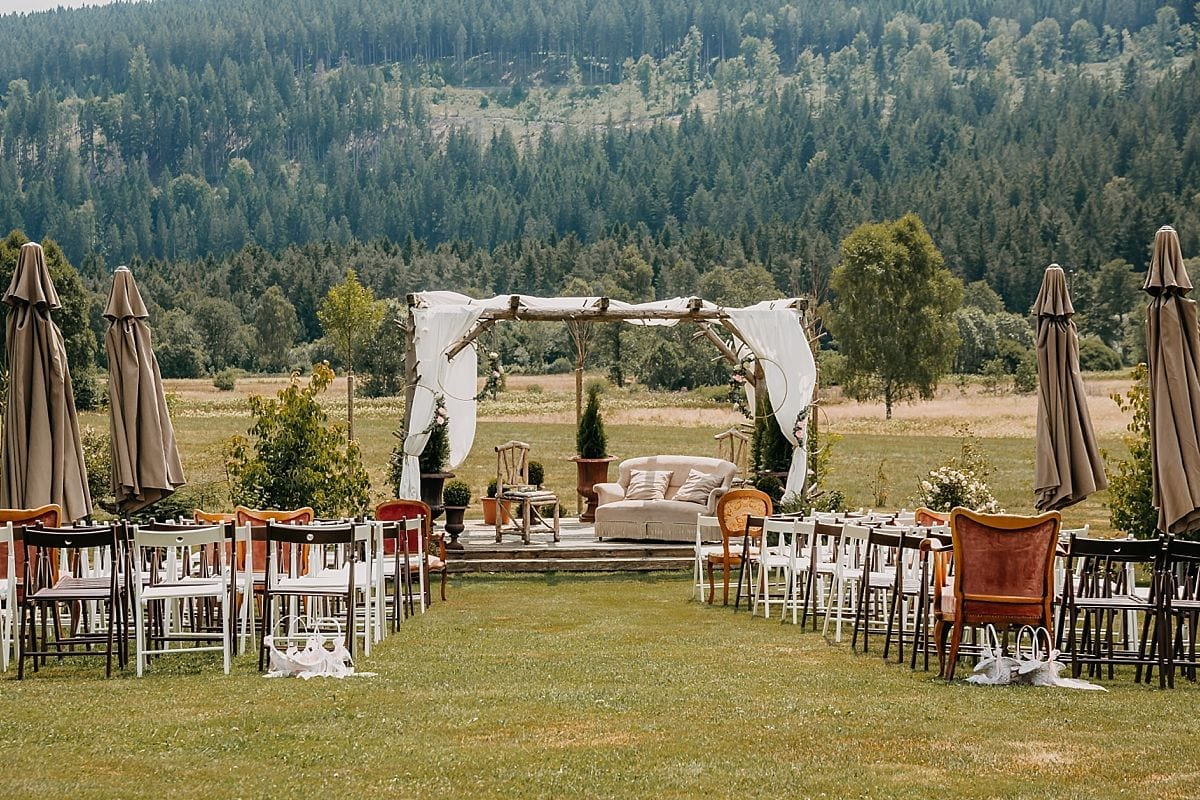 Eine Outdoor-Hochzeit in Hinterzarten.